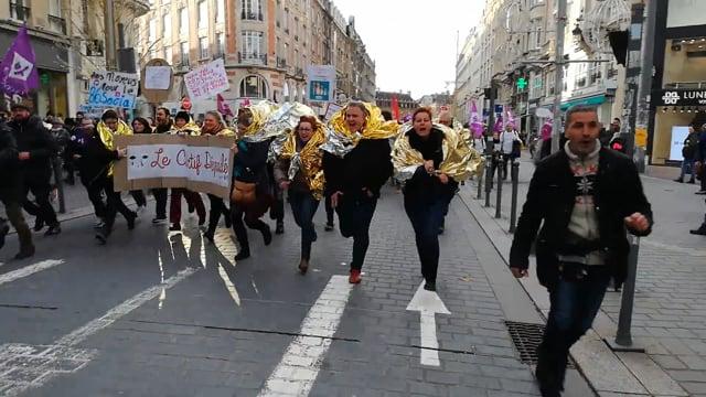 Manif des travailleurs sociaux à Lille